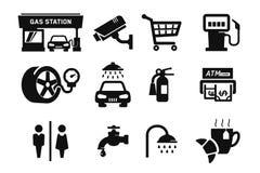 Icone della stazione di servizio Immagini Stock