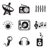 Icone della stazione radio Fotografia Stock Libera da Diritti