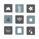 Icone della stazione termale Fotografia Stock