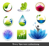 Icone della stazione termale illustrazione di stock