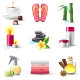 Icone della stazione termale Fotografie Stock