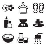 Icone della stazione termale Fotografia Stock Libera da Diritti
