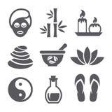 Icone della stazione termale Immagini Stock Libere da Diritti