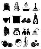 Icone della stazione termale impostate Immagini Stock Libere da Diritti