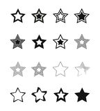 Icone della stella Fotografia Stock Libera da Diritti