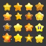Icone della stella di vettore del fumetto messe illustrazione vettoriale