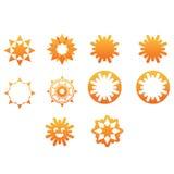 Icone della stella e di Sun Fotografia Stock