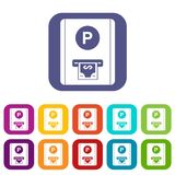 Icone della tassa di parcheggio messe Immagine Stock Libera da Diritti