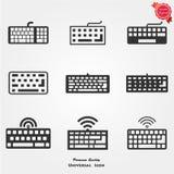 Icone della tastiera Fotografie Stock