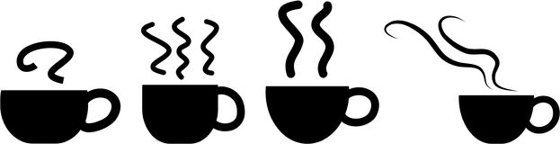 Icone della tazza di caffè Immagine Stock Libera da Diritti