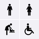 Icone della toilette Fotografia Stock Libera da Diritti