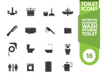 Icone della toilette Fotografie Stock Libere da Diritti