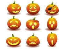 Icone della zucca di Halloween Immagine Stock Libera da Diritti