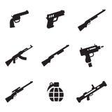 Icone delle armi Fotografie Stock Libere da Diritti