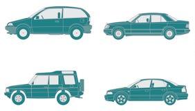 Icone delle automobili Fotografie Stock Libere da Diritti