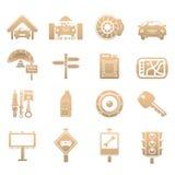 Icone delle automobili Fotografie Stock