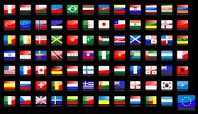 Icone delle bandiere nazionali illustrazione di stock