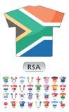 Icone delle bandierine di paesi illustrazione di stock