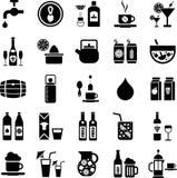 Icone delle bevande Immagine Stock Libera da Diritti