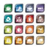 Icone delle bevande e dell'alimento illustrazione di stock