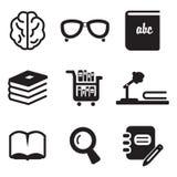 Icone delle biblioteche Immagine Stock