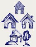 Icone delle Camere impostate illustrazione di stock