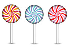 Icone delle caramelle e dei dolci impostate Fotografia Stock