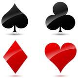 Icone delle carte da gioco di vettore Immagini Stock