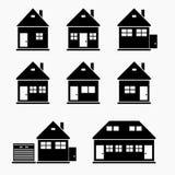 Icone delle case Fotografia Stock