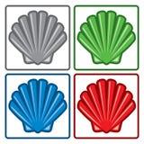 Icone delle coperture del mare Vettore Immagine Stock Libera da Diritti