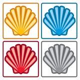Icone delle coperture del mare Vettore Immagini Stock Libere da Diritti