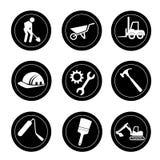 Icone delle costruzioni Fotografie Stock