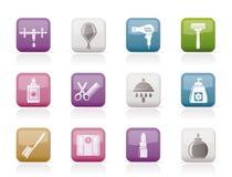 Icone delle estetiche e di cura personale royalty illustrazione gratis