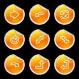 Icone delle frecce, autoadesivo arancione illustrazione di stock
