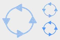 Icone delle frecce di circolazione del senso antiorario di vettore del pixel royalty illustrazione gratis