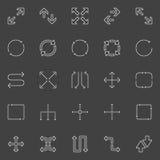 Icone delle frecce di vettore Fotografia Stock Libera da Diritti