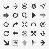 Icone delle frecce messe Elementi di vettore Immagine Stock