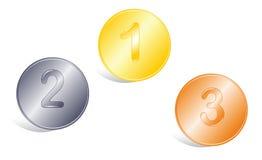 Icone delle medaglie. Fotografia Stock