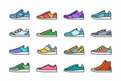 Icone delle scarpe da tennis Fotografie Stock