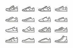Icone delle scarpe da tennis Fotografia Stock