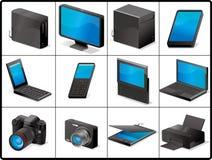 Icone delle unità e del calcolatore per la struttura Immagine Stock Libera da Diritti