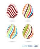 Icone delle uova di Pasqua Fotografie Stock Libere da Diritti