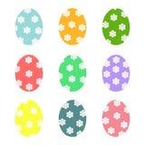 Icone delle uova di Pasqua Insieme dell'illustrazione di vettore delle uova illustrazione vettoriale