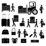 Icone delle valigie Fotografia Stock