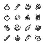 Icone delle verdure – serie di Bazza Fotografie Stock Libere da Diritti