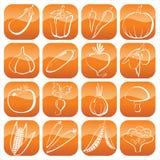 Icone delle verdure Immagini Stock Libere da Diritti