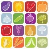 Icone delle verdure illustrazione vettoriale