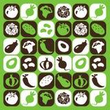 Icone delle verdure Fotografia Stock
