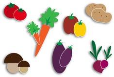 Icone delle verdure Fotografie Stock