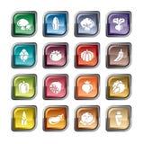 Icone delle verdure illustrazione di stock